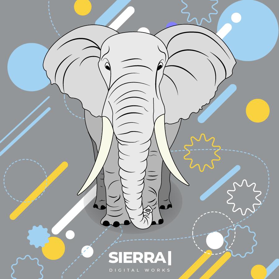 ilustracion elefante