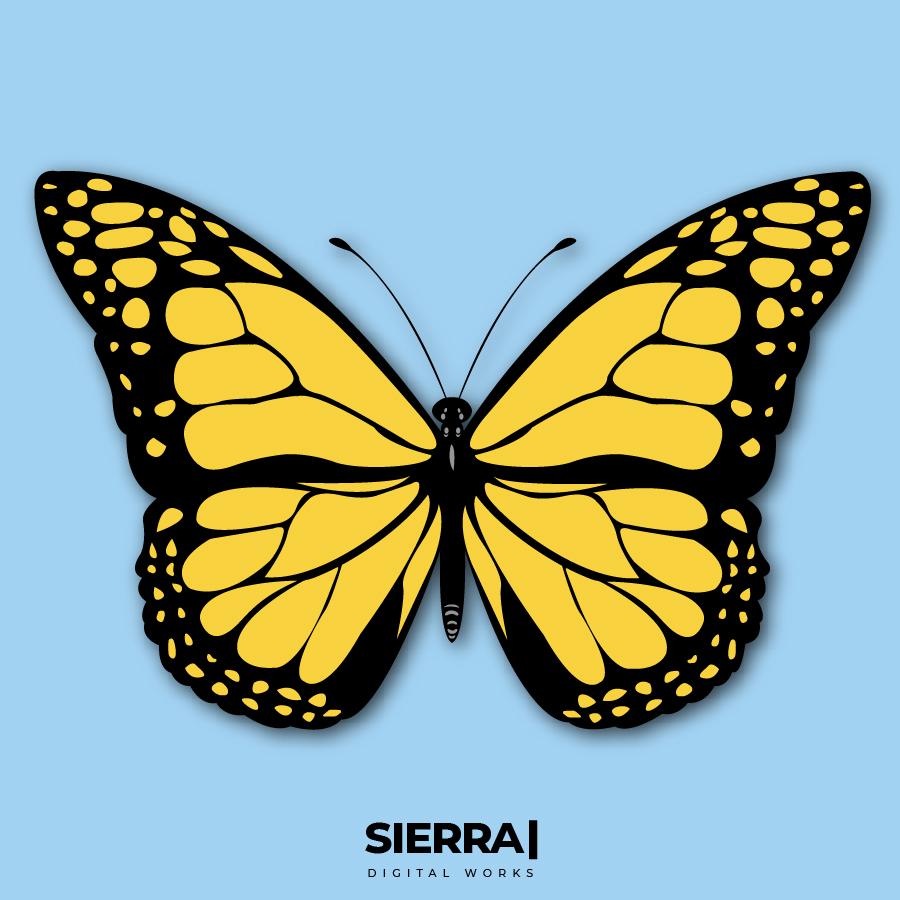 iustracion mariposa